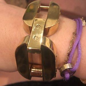 Gold Michael Kors chain bracelet